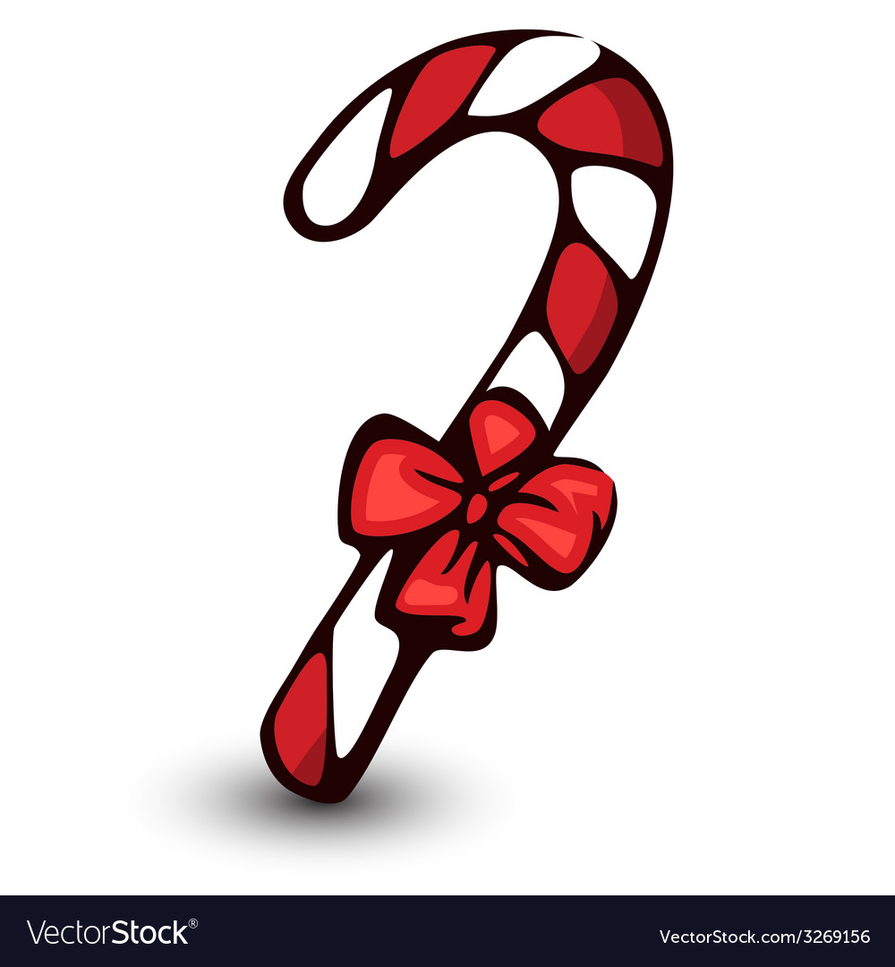 Candycane isolated on white vector | Price: 1 Credit (USD $1)