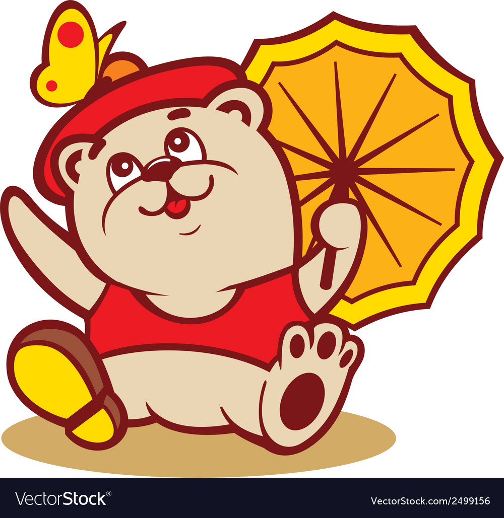 Fashionable little bear sign vector | Price: 1 Credit (USD $1)