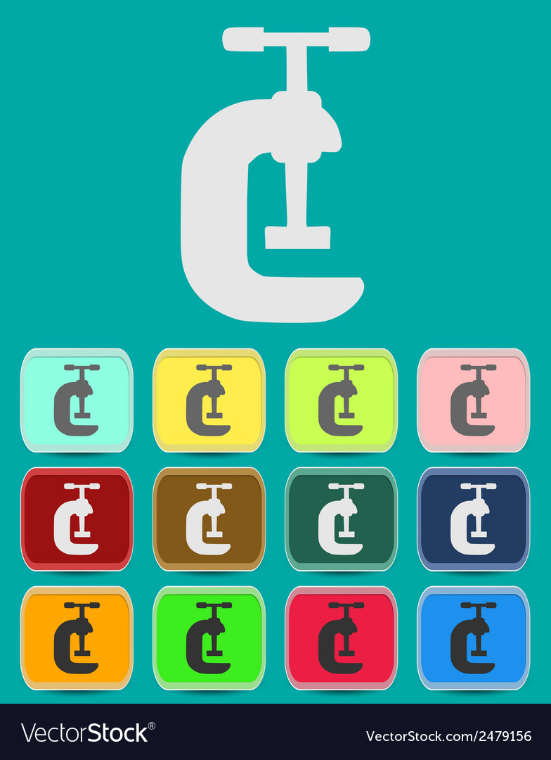 G clamp icon vector | Price: 1 Credit (USD $1)