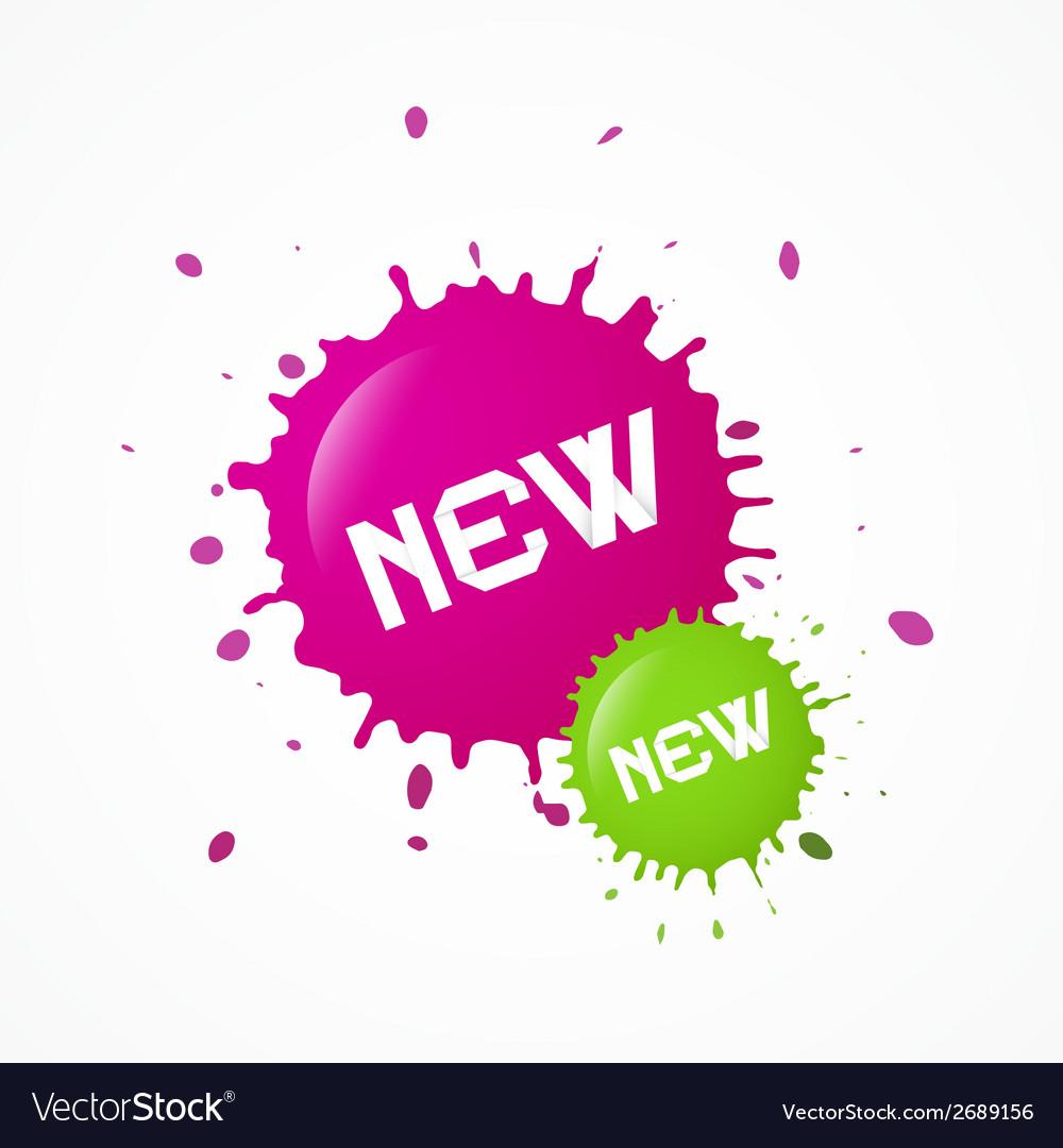 Green pink new splashes blots vector   Price: 1 Credit (USD $1)