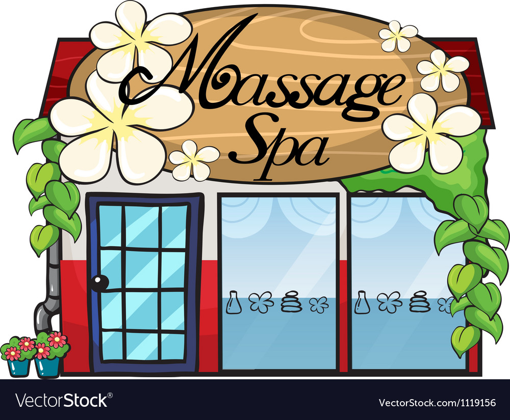Massage shop vector | Price: 1 Credit (USD $1)