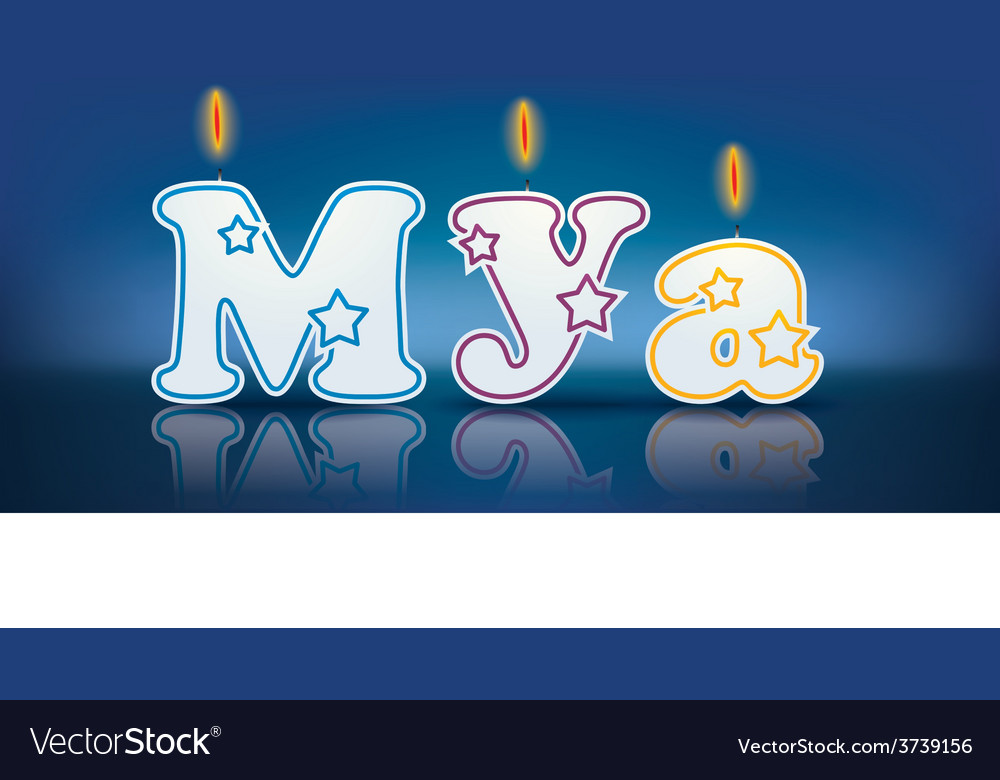Mya written with burning candles vector | Price: 1 Credit (USD $1)