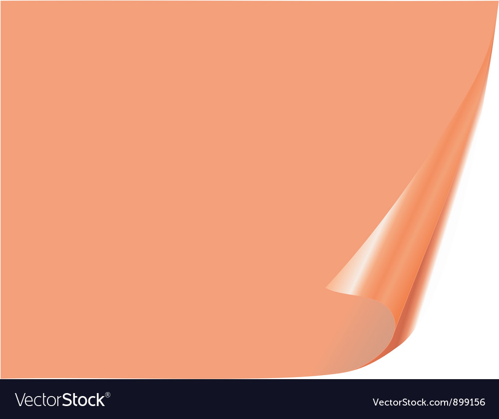 Page with bent corner vector | Price: 1 Credit (USD $1)
