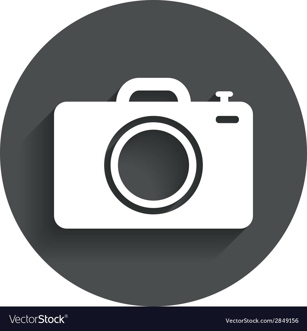 Photo camera sign icon photo symbol vector | Price: 1 Credit (USD $1)
