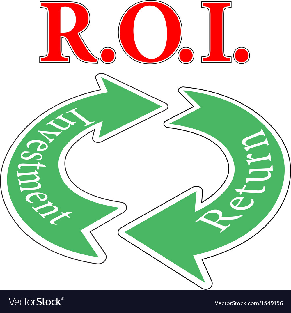 Roi return on investment cycle vector | Price: 1 Credit (USD $1)