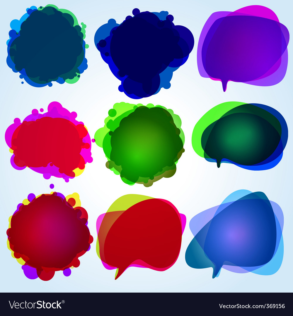 Speech bubbles original illustration vector | Price: 1 Credit (USD $1)