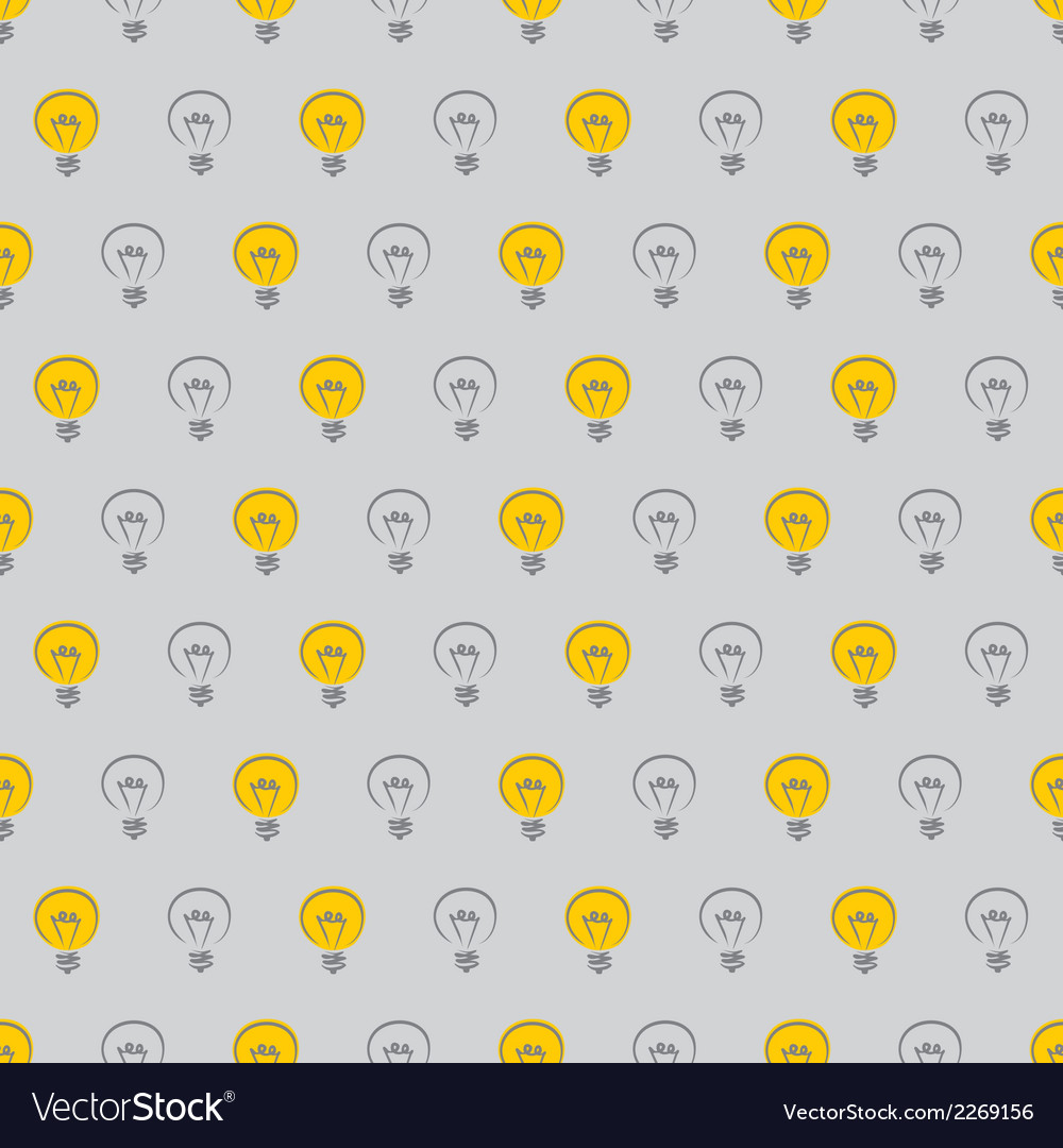 Tile pattern with light bulb vector | Price: 1 Credit (USD $1)