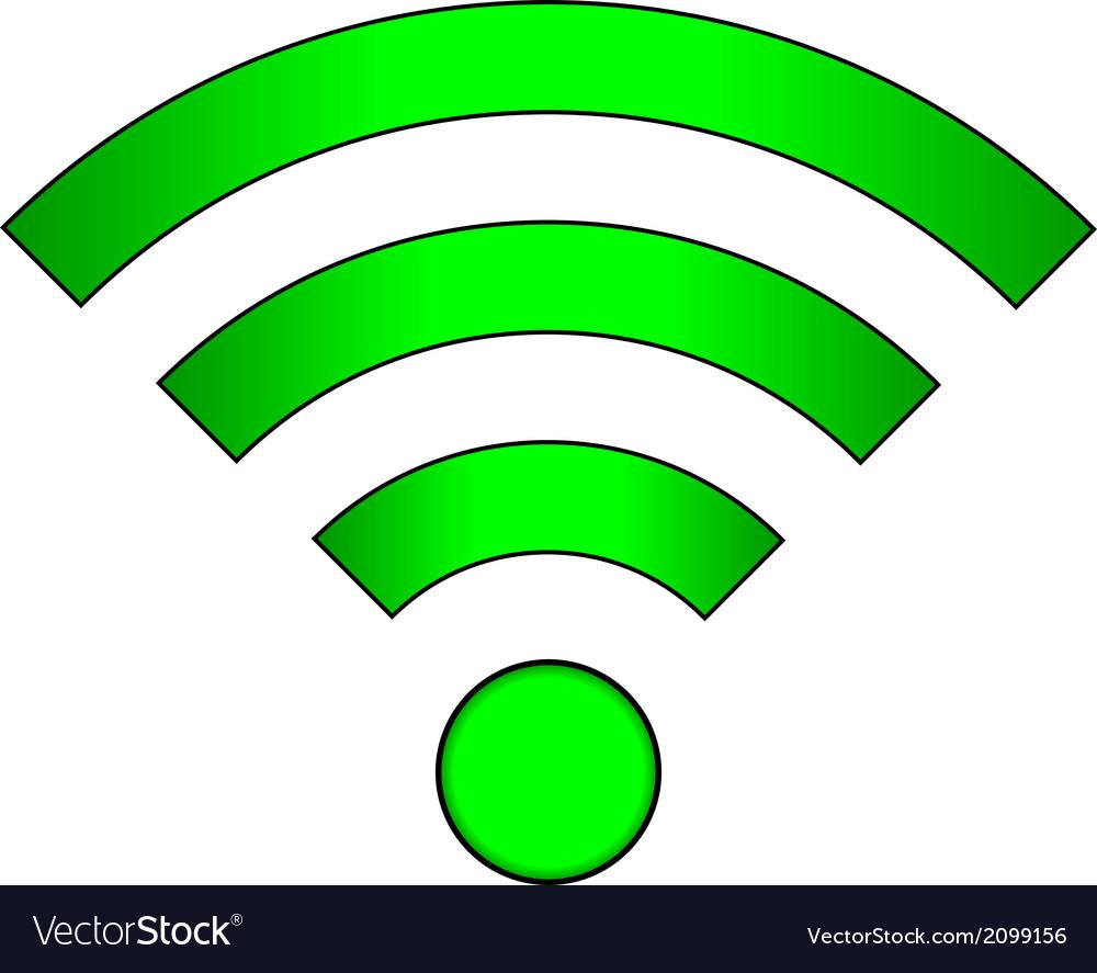 Wi fi icon vector | Price: 1 Credit (USD $1)