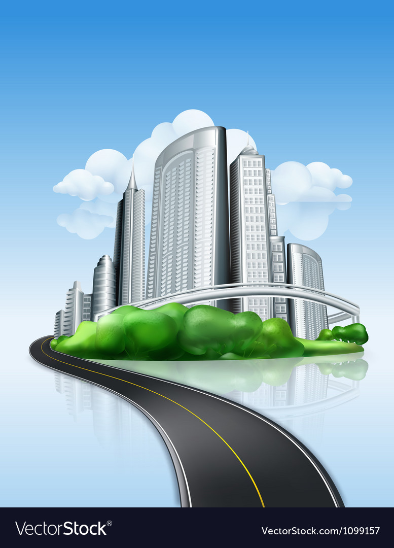 City and road vector | Price: 3 Credit (USD $3)