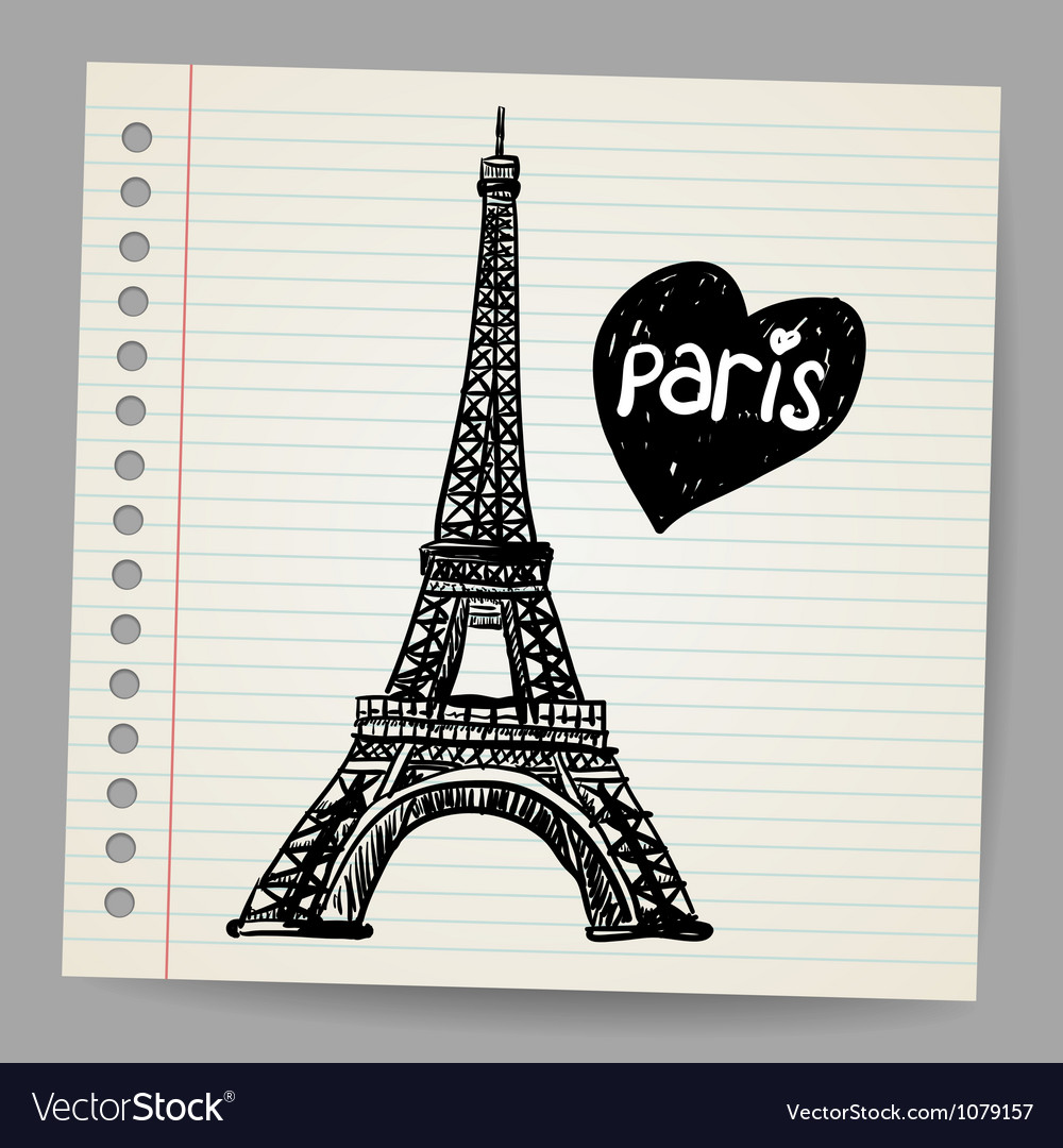 Eiffel tower doodle vector | Price: 1 Credit (USD $1)