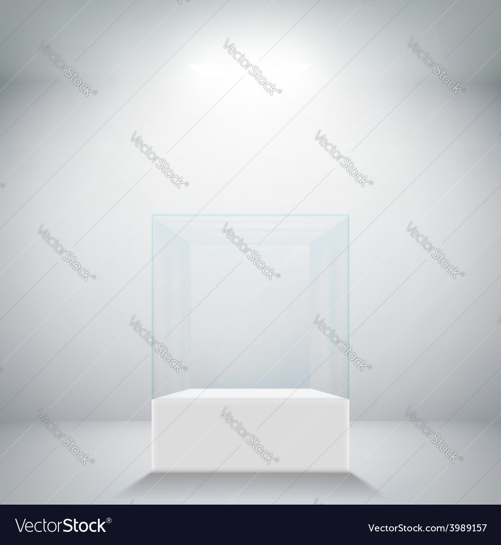 Empty glass showcase for exhibit vector | Price: 1 Credit (USD $1)