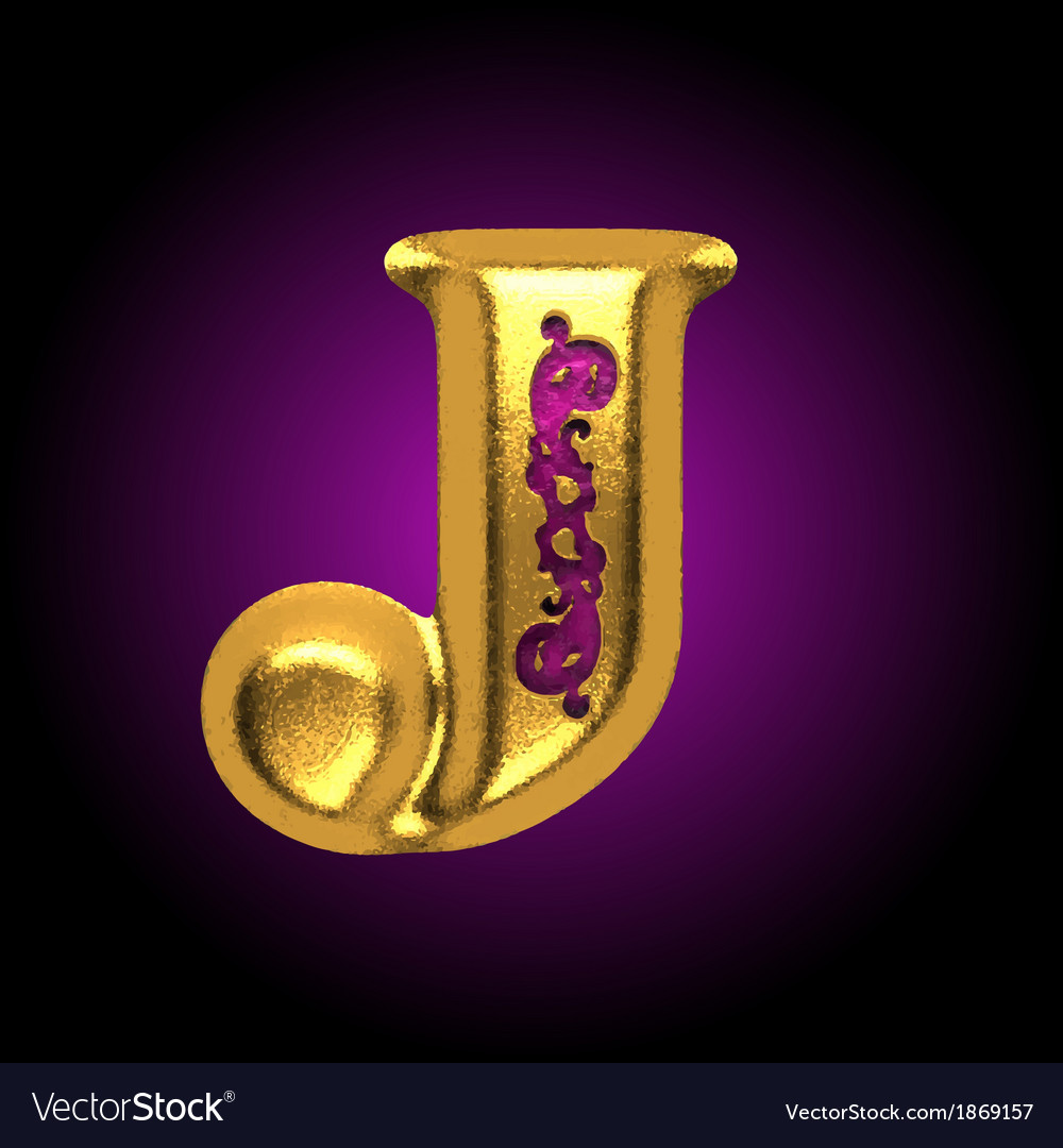Golden letter j vector | Price: 1 Credit (USD $1)
