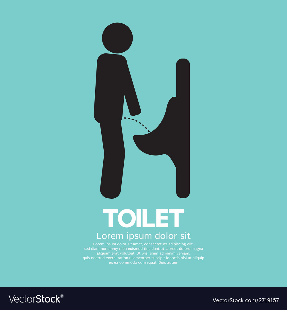 Men toilet sign vector   Price: 1 Credit (USD $1)
