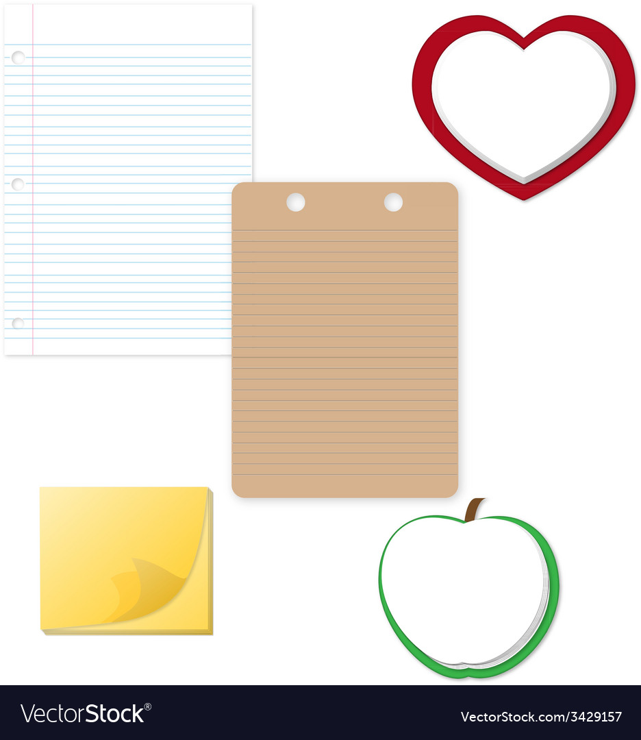 Notepad and paper clipart vector | Price: 1 Credit (USD $1)