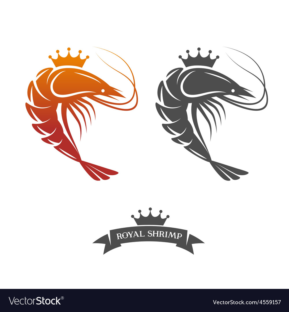 Royal shrimp sign vector | Price: 1 Credit (USD $1)