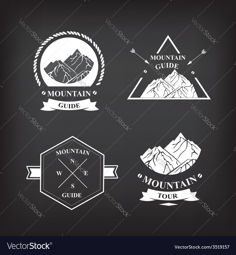 Set of expedition badges vector | Price: 1 Credit (USD $1)