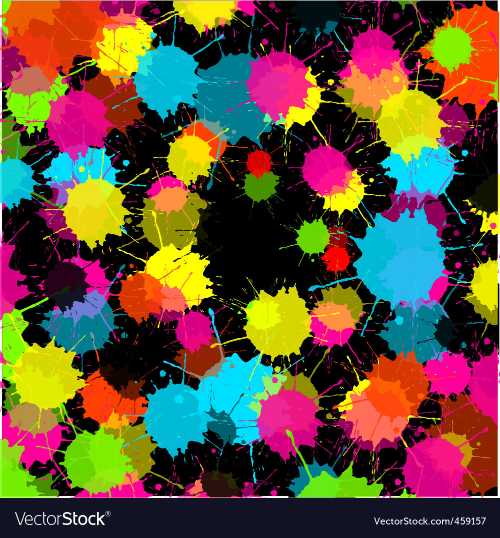 Splash black background vector | Price: 1 Credit (USD $1)