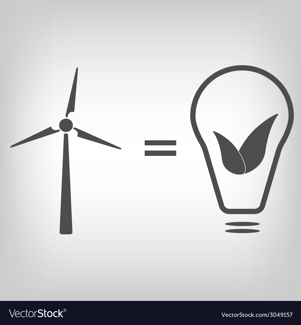 Wind turbine as eco friendly source of energy vector | Price: 1 Credit (USD $1)