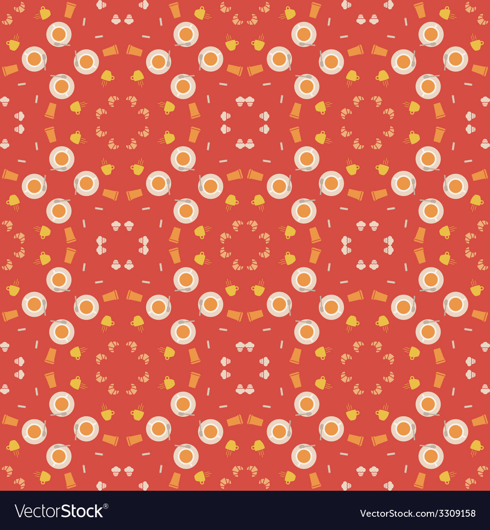 Abstract pattern of coffee paraphernalia vector | Price: 1 Credit (USD $1)