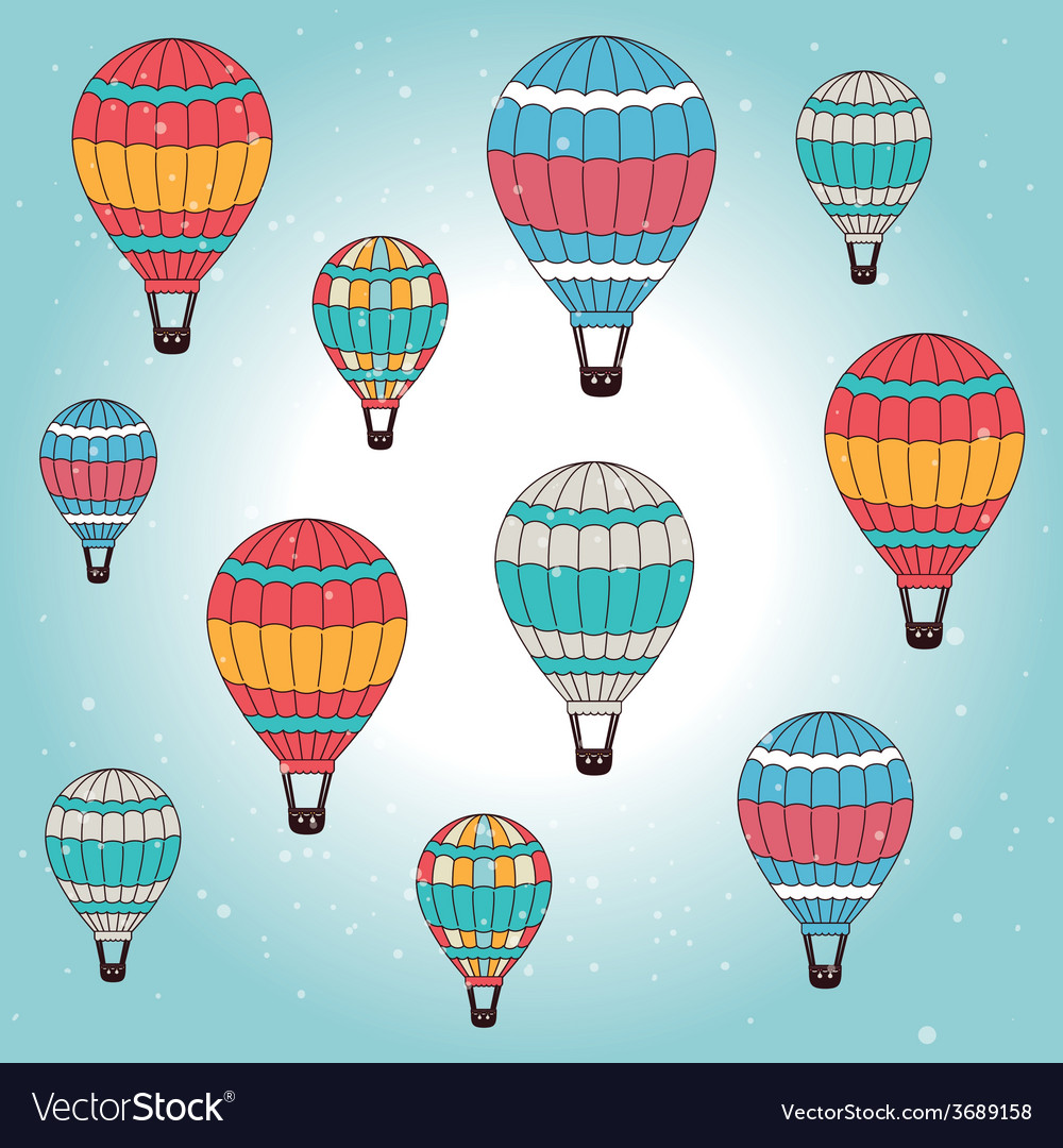 Airballoon design over cloudscape background vector | Price: 1 Credit (USD $1)