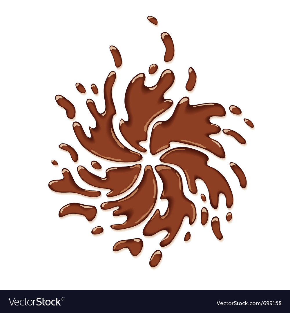 Chocolate splash vector | Price: 1 Credit (USD $1)
