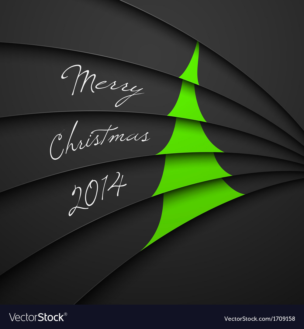Christmas greeting card merry christmas lettering vector | Price: 1 Credit (USD $1)