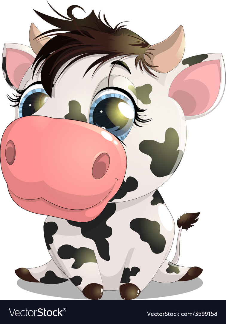 Cow vector | Price: 3 Credit (USD $3)