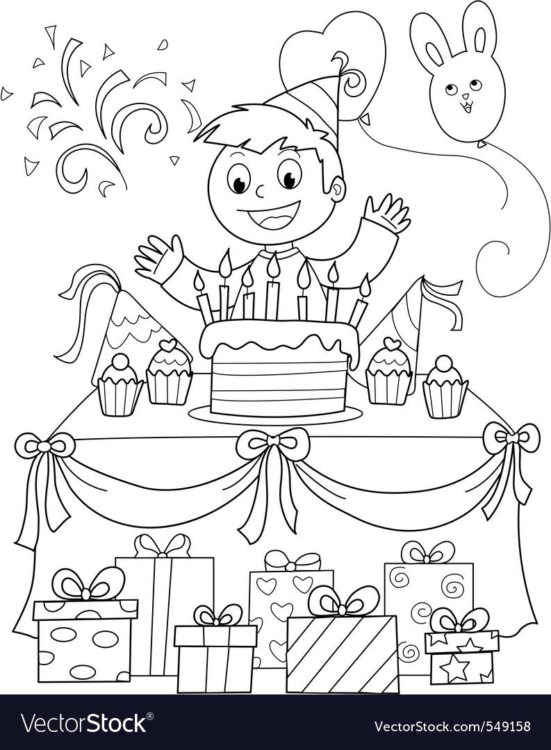 Happy birthday party vector | Price: 1 Credit (USD $1)