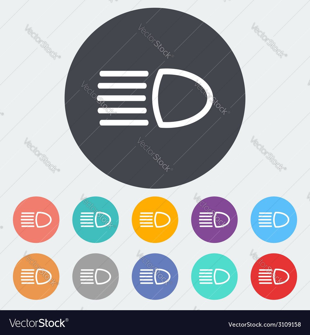 Headlight icon vector | Price: 1 Credit (USD $1)