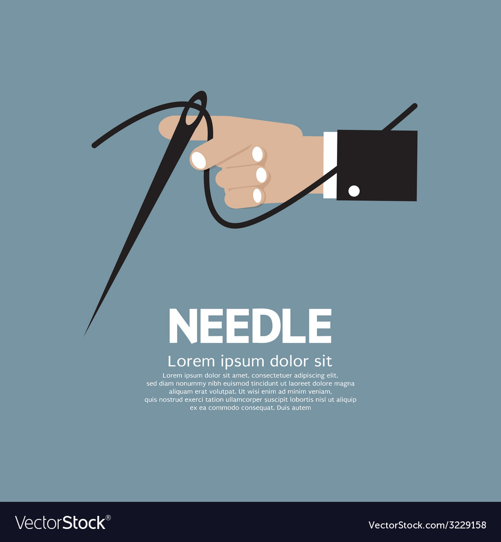 Needle in hand vector | Price: 1 Credit (USD $1)