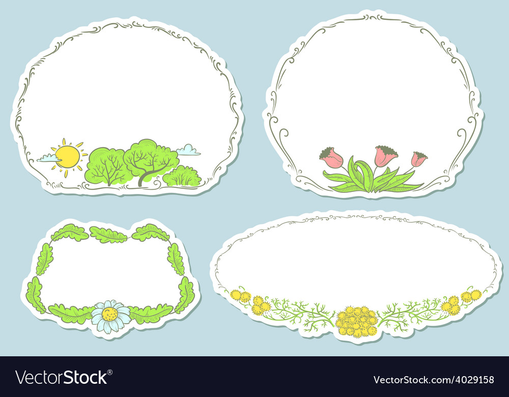 Spring stickers vector | Price: 1 Credit (USD $1)