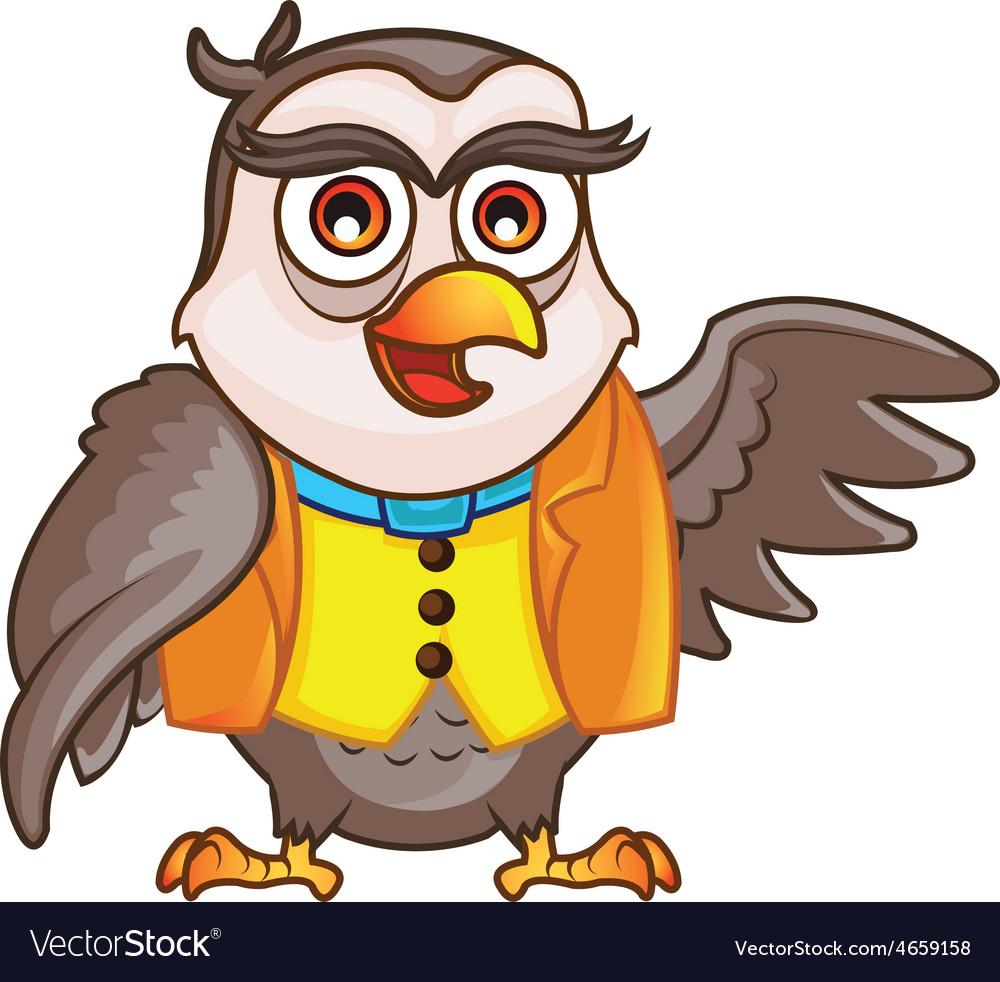 Wise owl cartoon vector | Price: 3 Credit (USD $3)