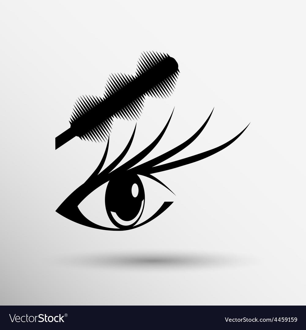 Brushes mascara and mascara brush makeup eye vector   Price: 1 Credit (USD $1)