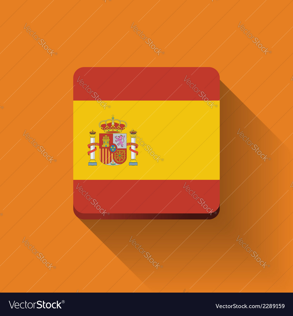 Button with flag of spain vector | Price: 1 Credit (USD $1)