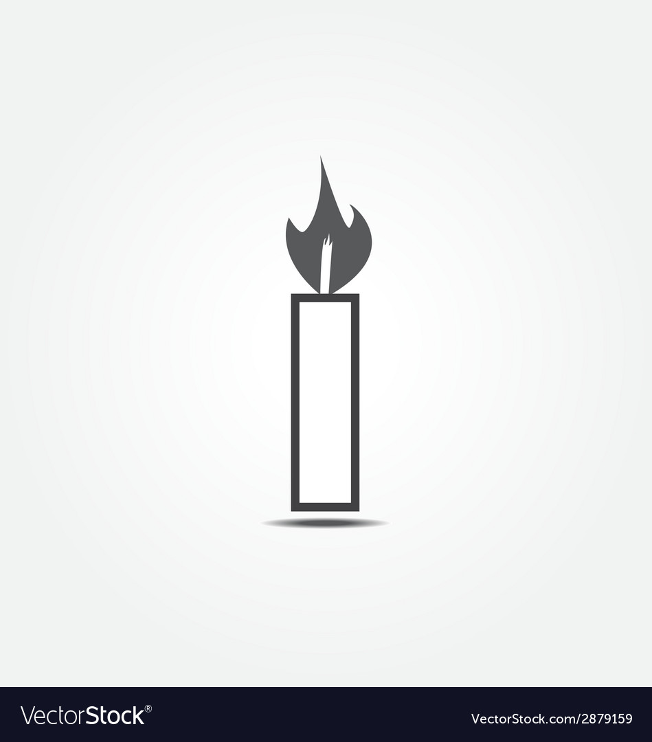 Candle icon1 vector | Price: 1 Credit (USD $1)