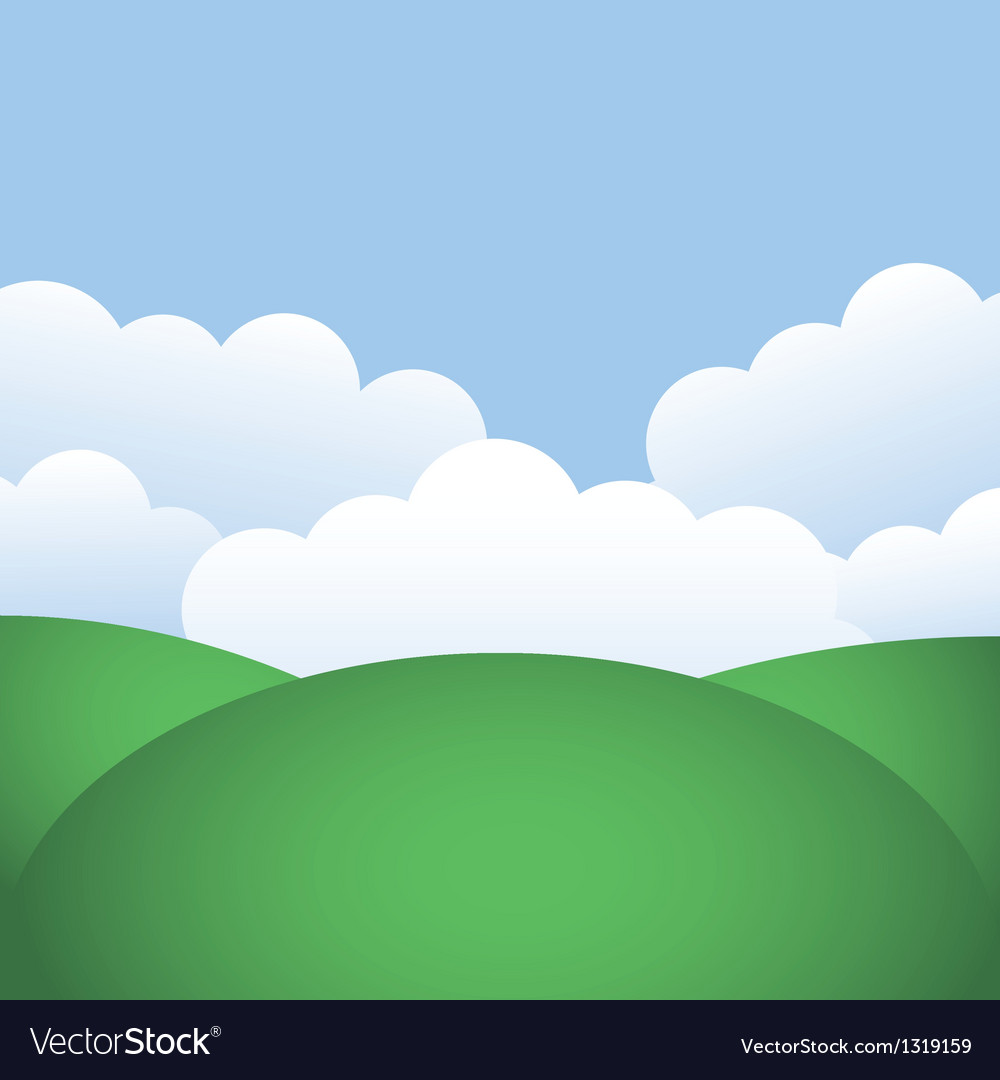 Hills and blue sky vector | Price: 1 Credit (USD $1)