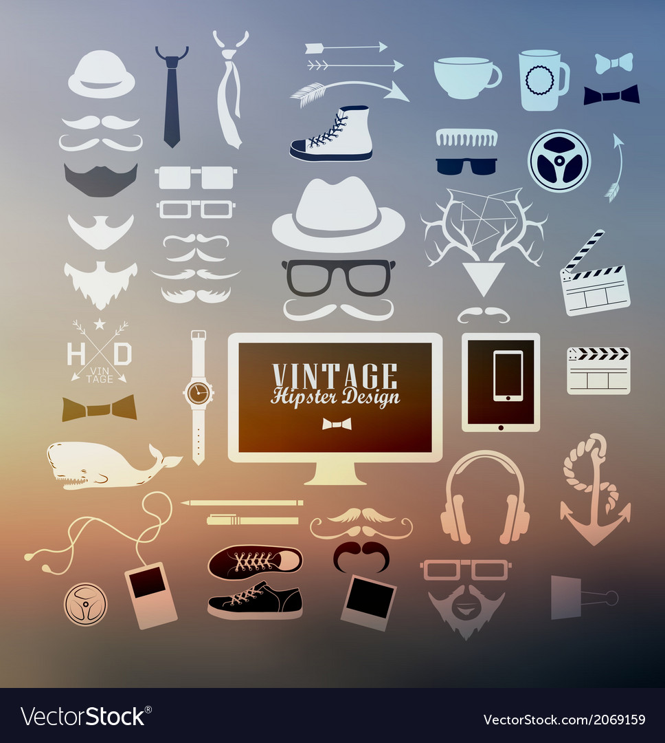 Hipster style elements vector   Price: 1 Credit (USD $1)