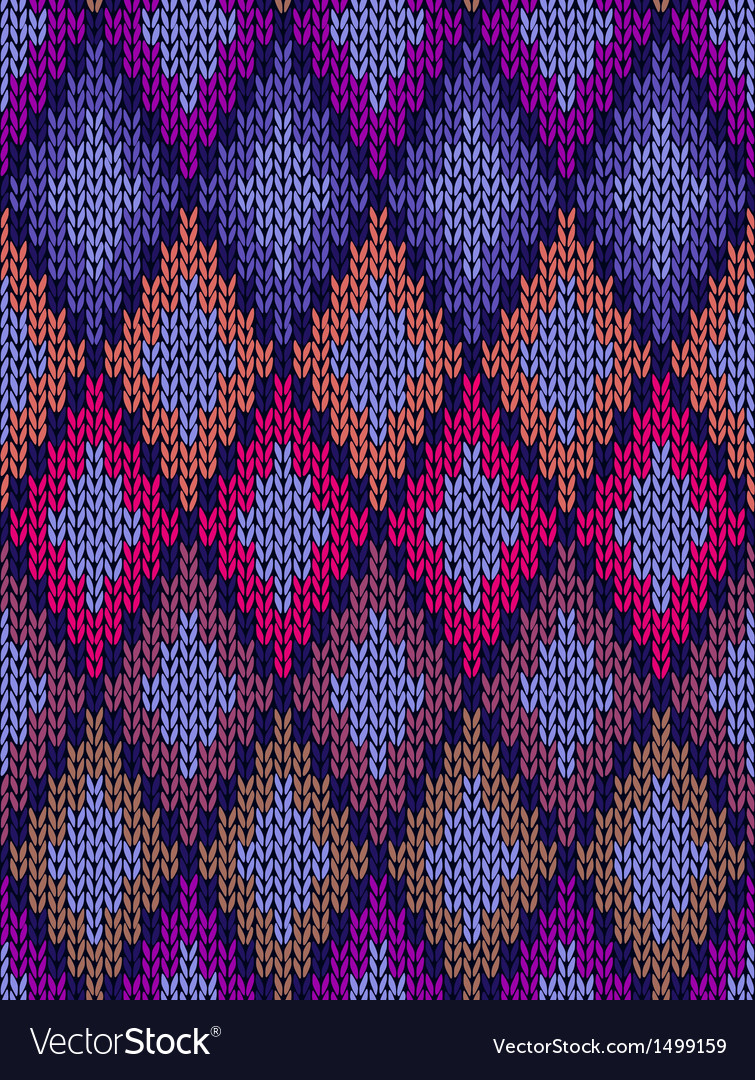 Seamless ornamental knitted pattern vector | Price: 1 Credit (USD $1)