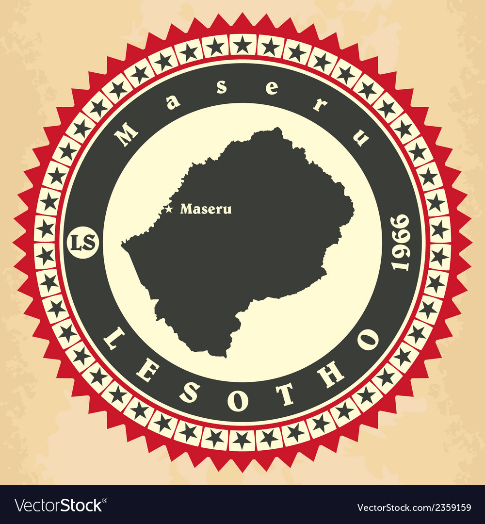 Vintage label-sticker cards of lesotho vector | Price: 1 Credit (USD $1)