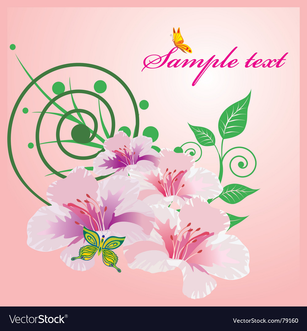 Abtsract floral vector | Price: 1 Credit (USD $1)