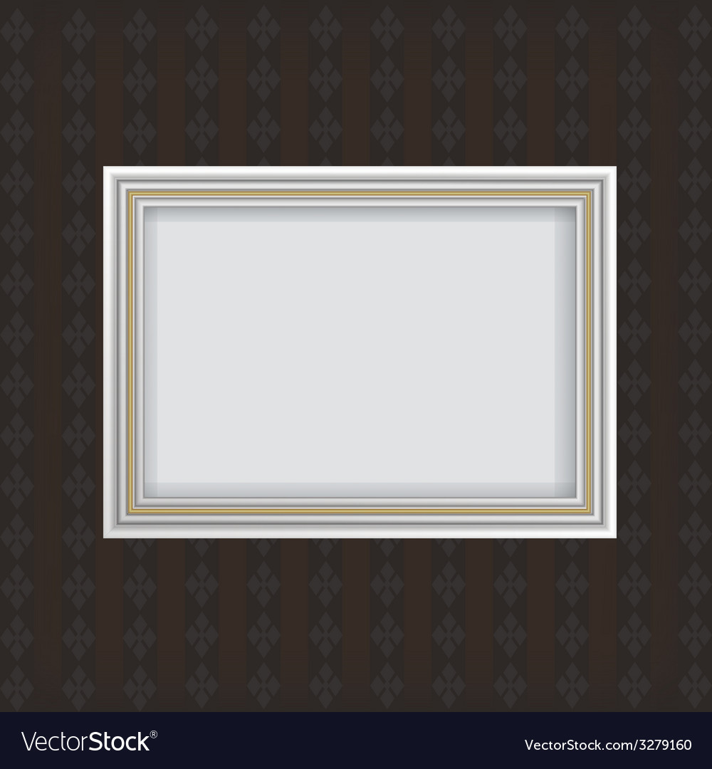 Antique white frame vector | Price: 1 Credit (USD $1)