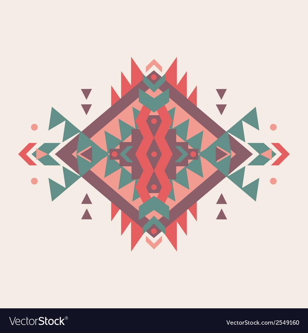 Colorful decorative ethnic pattern vector | Price: 1 Credit (USD $1)