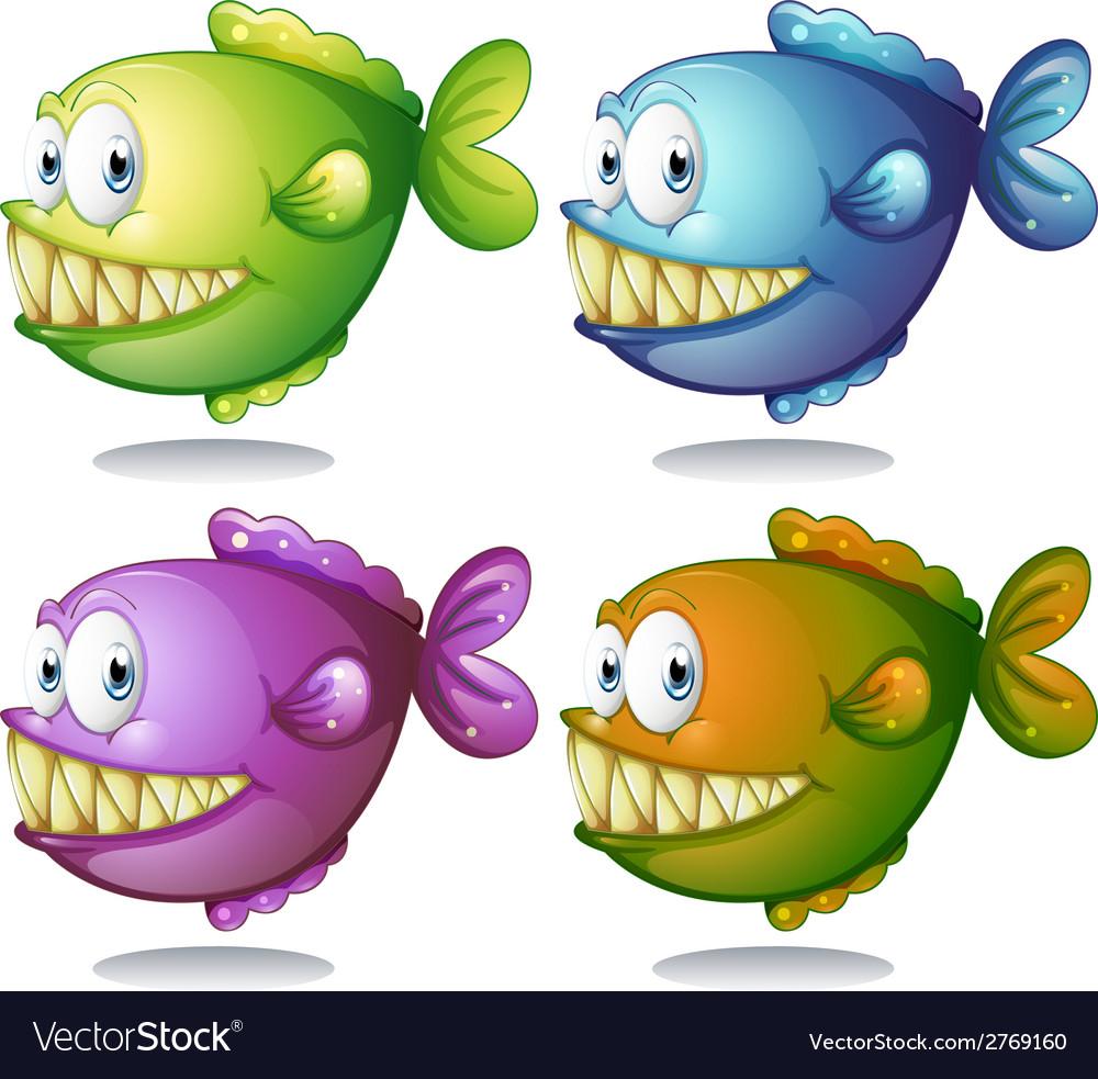Fish set vector | Price: 1 Credit (USD $1)