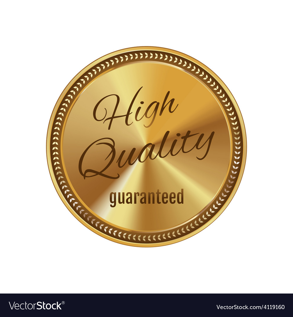 Golden badge high quality vector | Price: 3 Credit (USD $3)
