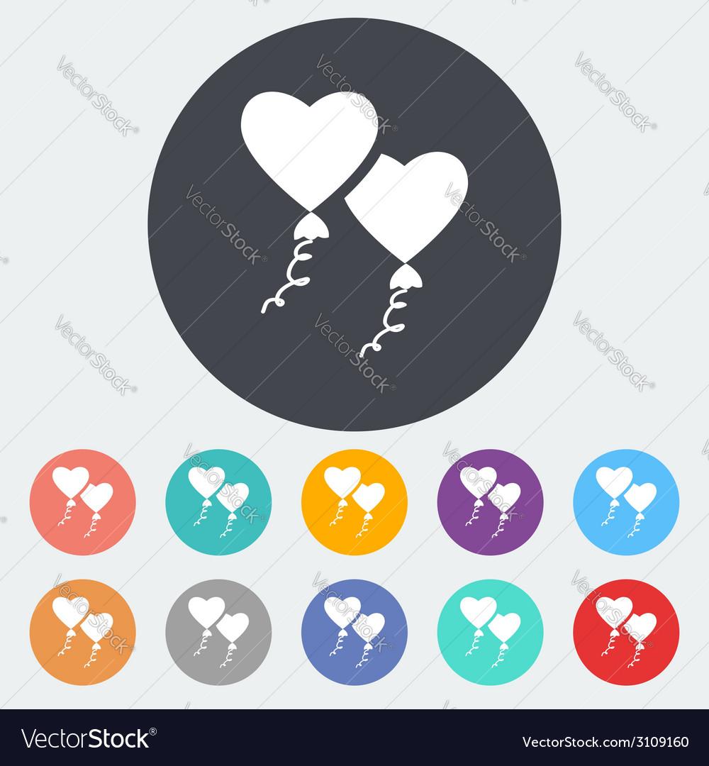 Heart balloon vector   Price: 1 Credit (USD $1)