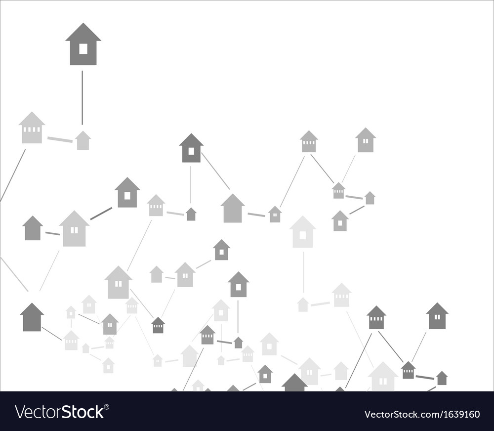 House icons linked together vector | Price: 1 Credit (USD $1)