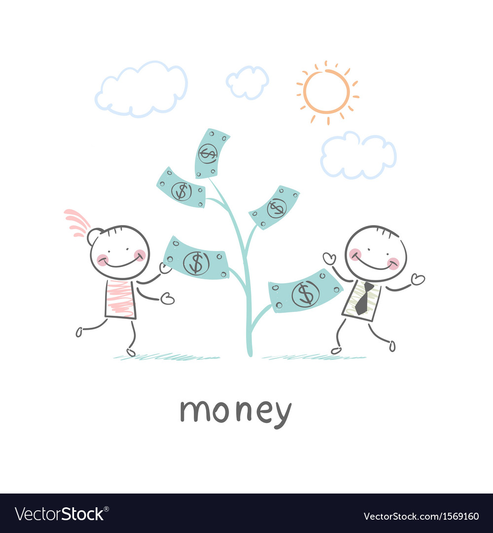 Man and money vector | Price: 1 Credit (USD $1)