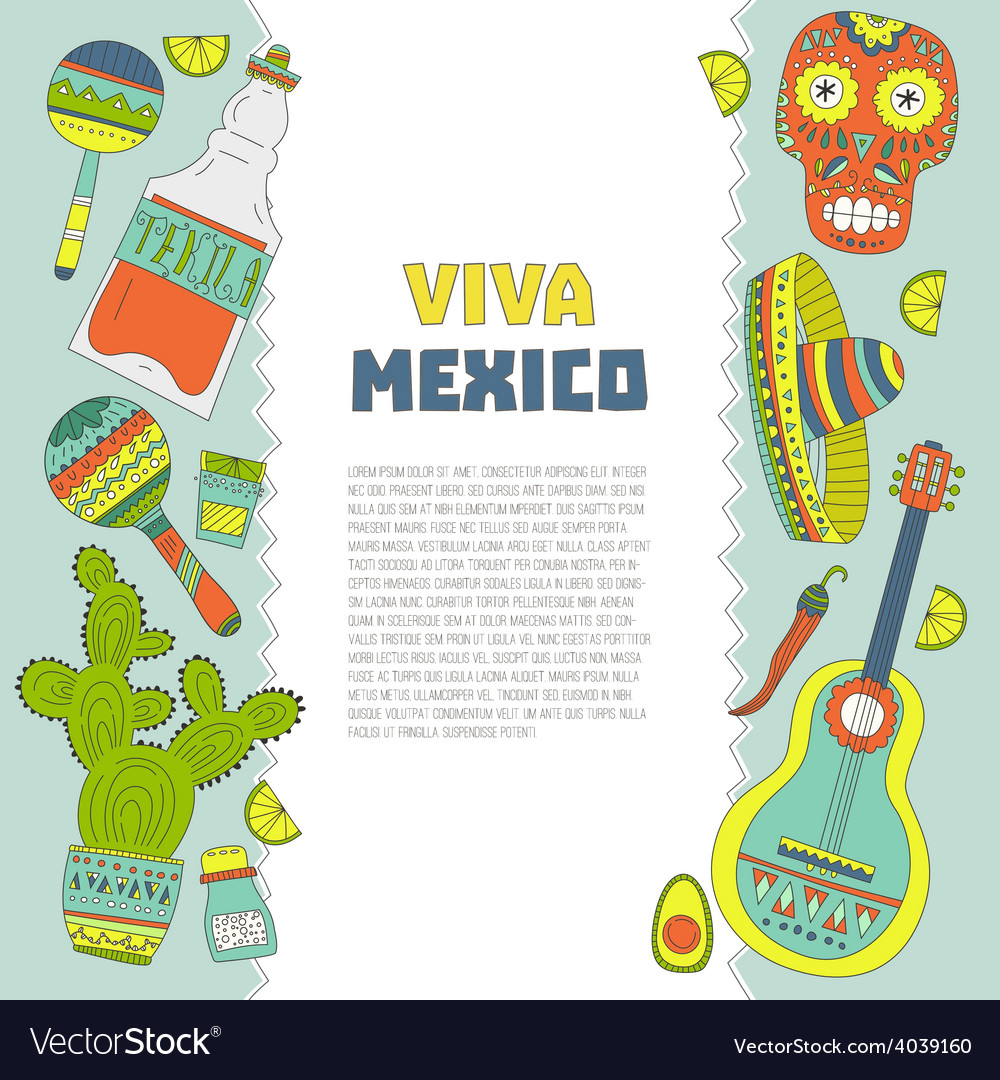 Mexico card template vector | Price: 1 Credit (USD $1)