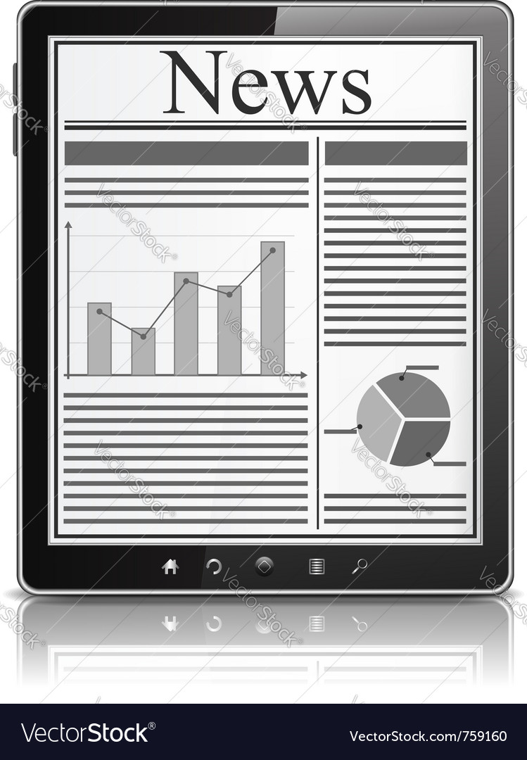 News in tablet pc vector | Price: 1 Credit (USD $1)