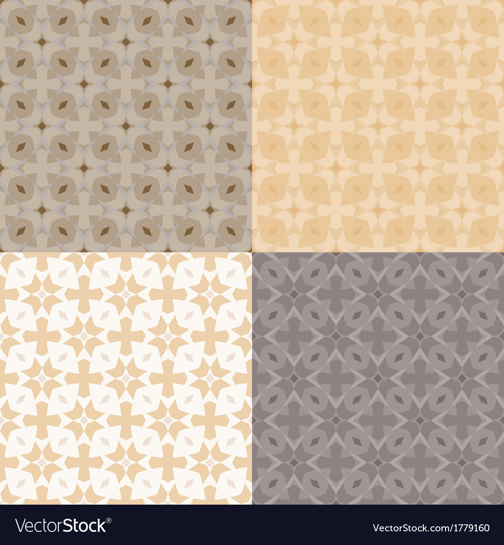 Pattern with bold geometric shapes in 1970s style vector | Price: 1 Credit (USD $1)